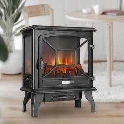 """VIVOHOME 110V 23"""" Electric Fireplace Stove Space Heater Log"""