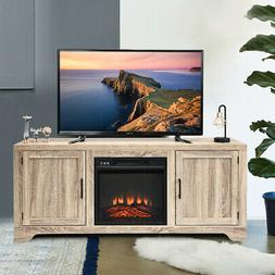 1400W Electric Fireplace TV Stand Cabinet Console &Heater Ho