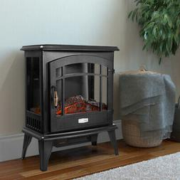 1500W Electric Fireplace Freestanding Heater Wood Fire Flame