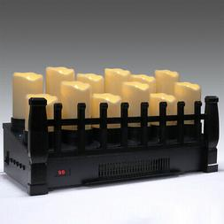 1500w electric infrared heat candle insert fireplace