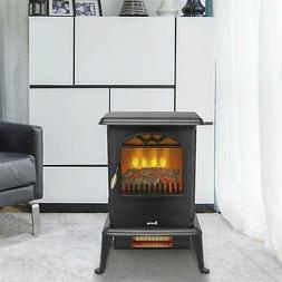 ZOKOP 1500W Electric Safe Fireplace LED Fire Flame Indoor In