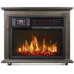 1500W Large Infrared Quartz Electric Fireplace Heater Realis