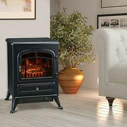HomCom 16 1500W Free Standing Electric Fireplace - Black