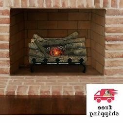 Pleasant Hearth 20 Natural Wood Electric Crackle Log Firepla