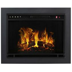 23 Inch Flat Ventless Heater Electric Fireplace Insert Trim