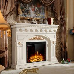 26 Inches Costway Electric Embedded Fireplace Insert Heater
