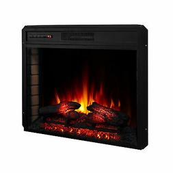 "28"" 1400W Electric Fireplace Insert Stove Heater W/Remote Co"