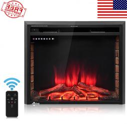 """30""""Fireplace Electric Embedded Insert Heater Glass Log Flame"""