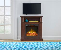 31 In. Freestanding Compact Infrared Electric Fireplace w/ R