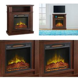 31 In. Freestanding Compact Infrared Electric Fireplace 2 Se