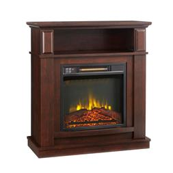 31 In. Freestanding Fireplace Compact Infrared Electric w/ R