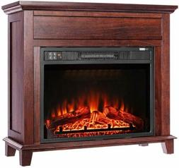 32 electric fireplace heater stove w remote