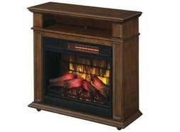 """32"""" TV Stand Infrared Heater Electric Fireplace Walnut Brown"""