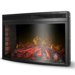 """33"""" 3D Infrared Quartz Electric Fireplace Insert with Timer"""