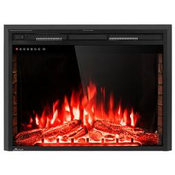 """36"""" Electric Fireplace Insert Freestanding Stove Heater"""
