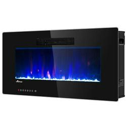 """36"""" Recessed Electric Fireplace In-wall Wall Mounted Electri"""