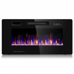 """36"""" Recessed Ultra Thin Wall Mounted Electric Fireplace"""