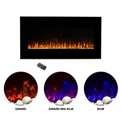 Northwest Electric Fireplace Wall Mounted LED Fire and Ice F