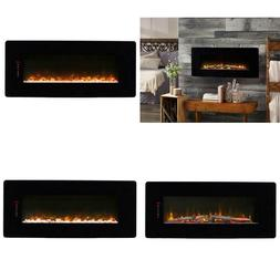 42 In. Wall Mount Linear Electric Adjustable Realistic Flame