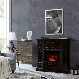 43.31 inch Electric Fireplace in Dark Chocolate