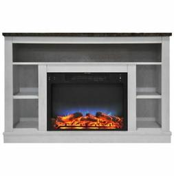 47 In. Electric Fireplace with a Multi-Color LED Insert and