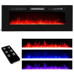 "50"" Electric Fireplace Recessed insert or Wall Mounted Stand"