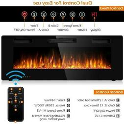 50inch Electric Fireplace Recessed Ultra Thin Wall Mounted H