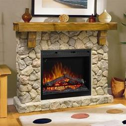 Dimplex SMP-904-ST Fieldstone Pine and Stone-look Electric F