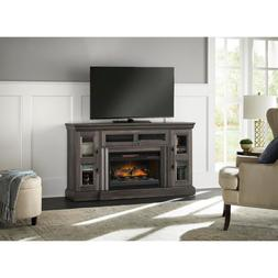 Abigail 60in Media Console Infrared Electric Fireplace in