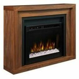 anthony mantel electric fireplace with glass ember