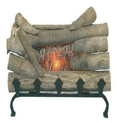 burning decor electric fireplace log crackling sound