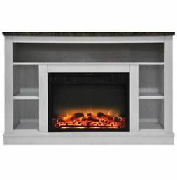 Cambridge CAM5021-1WHTLG2 47 In. Electric Fireplace with Enh