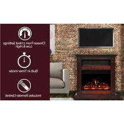 """Cambridge Sienna 34"""" Electric Fireplace Heater with Cherry M"""