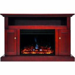"""Cambridge Sorrento Electric Fireplace Heater with 47"""" Cherry"""
