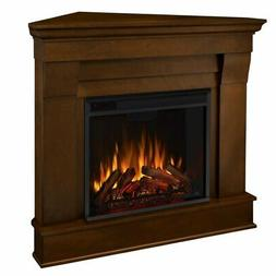 Real Flame Chateau Espresso Electric Corner Fireplace