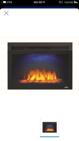 Napoleon Cinema Glass 24 Built-in Wall Electric Fireplace In