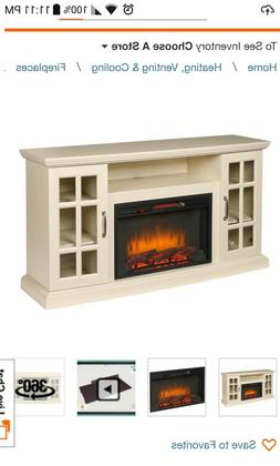 collection edenfield 59 in freestanding infrared fireplace