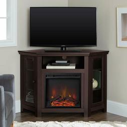 Corner Electric Fireplace TV Stand Entertainment Center Stor