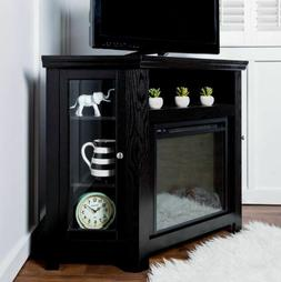 Corner Fireplace Electric Fire Heater TV Stand Console Cabin