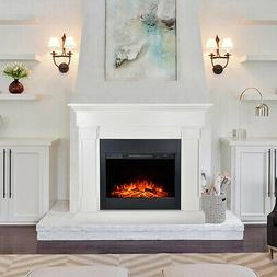 Crawford Elegant Mantel with Electric 1500W Fireplace Heater