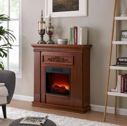 """38"""" DARK CHERRY Electric Heating Fireplace Mantle Fireplaces"""