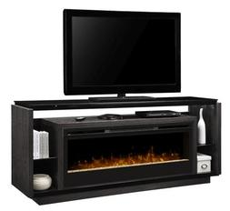 David Media Console - Glass Ember Bed Firebox