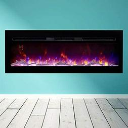Doris Electric Fireplace Recessed Wall Mounted For 2X6 Stud