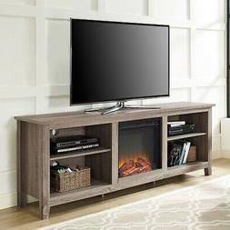 Driftwood 70-inch TV Stand Space Heater Electric Fireplace