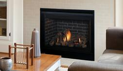 drt3545 direct vent gas fireplace w electric