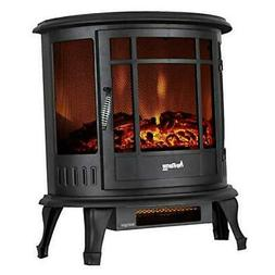 e-Flame USA Regal Freestanding Electric Fireplace Stove - 3-