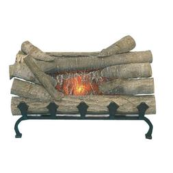Electric Real Wood Logged Fireplace Crackling Logs Sound Glo