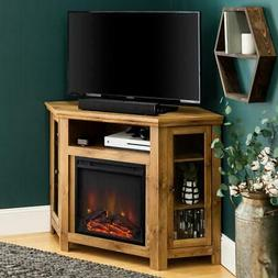 Electric Fireplace Entertainment Center 48 in. Faux Log Ligh