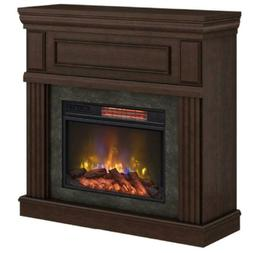 Electric Fireplace Grantley Freestanding Tempered Glass Midn