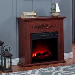 Electric Fireplace Heater TV Stand Remote Bedroom Mantel Woo